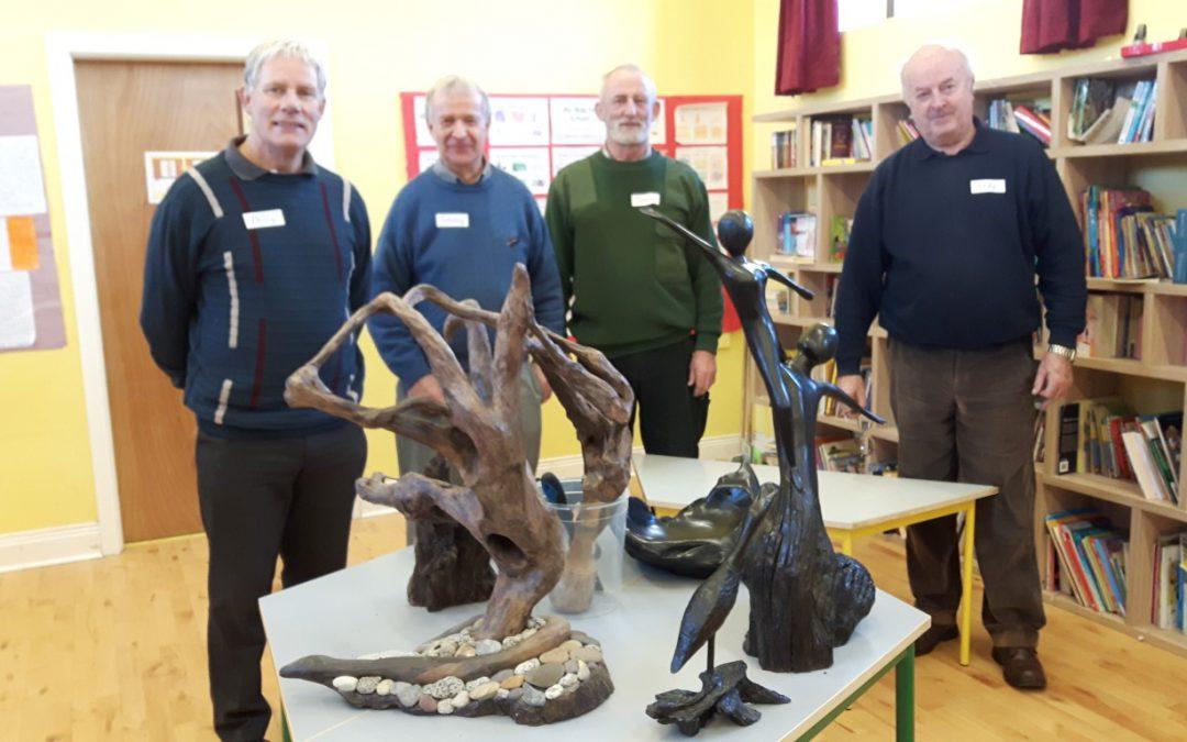 Ardcroney Woodcarvers visit Kilruane NS